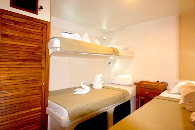 Nortada yacht cabin